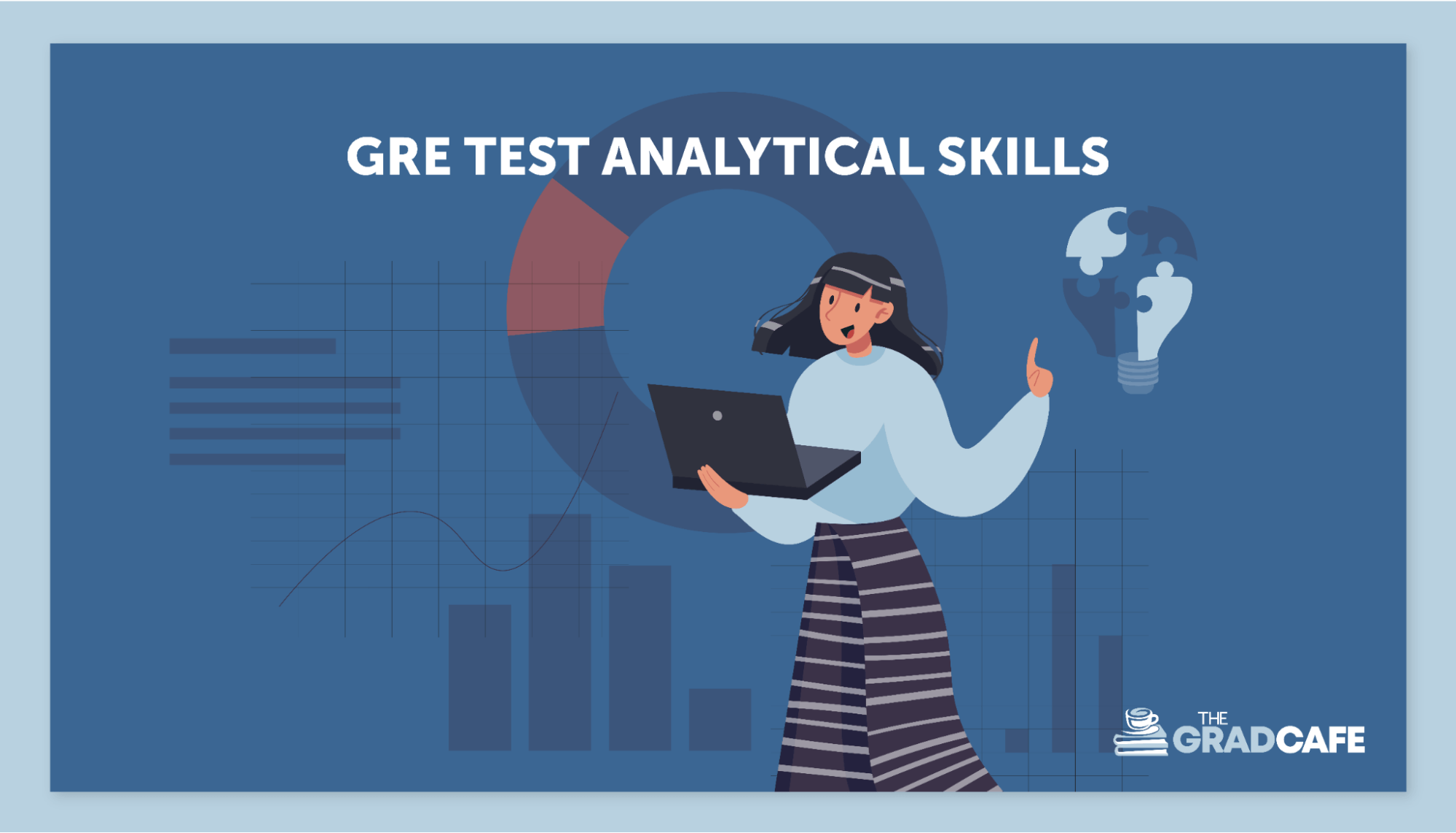 The GRE exam tests your analytical and critical thinking skills